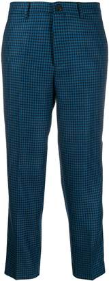 Berwich houndstooth cropped trousers