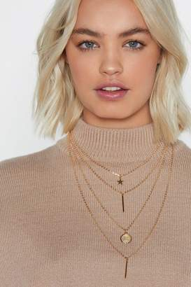 Nasty Gal Pull Back the Layers Charm Necklace
