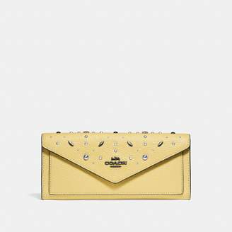 Coach New YorkCoach Soft Wallet With Prairie Rivets