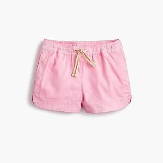 J.Crew Girls' pull-on short in cotton chino