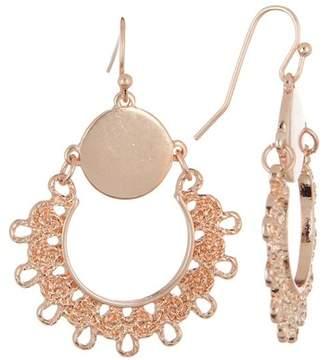 Melrose and Market Filigree Frontal Hoop Dangle Earrings