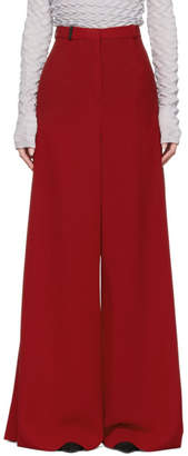 Lanvin Red Wide-Leg Trousers