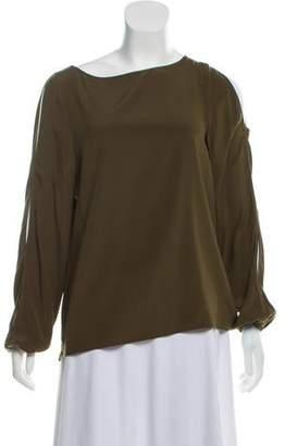 60a8a750 Ramy Brook Silk Cold Shoulder Blouse