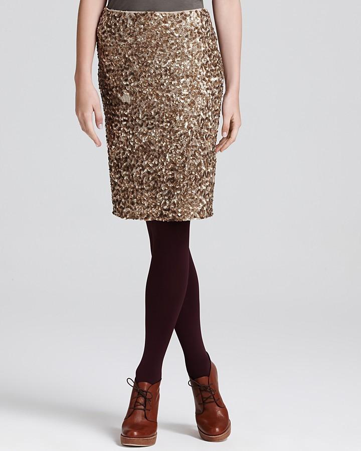Vince Sequin Pencil Skirt