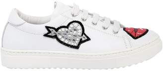 Leather Sneaker With Patches