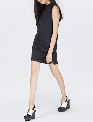 O'2nd 1 By Navy David Collar Shirt Dress