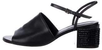 Robert Clergerie Leather Block Heel Sandals