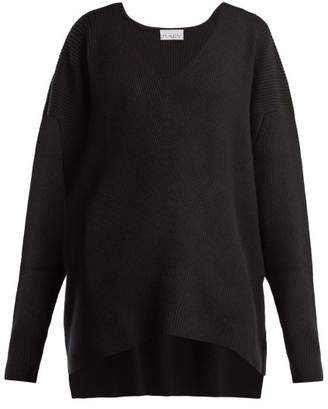 Raey - V Neck Ribbed Cashmere Sweater - Womens - Black