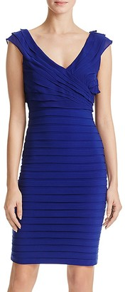 Adrianna Papell V-Neck Shutter Pleated Dress $180 thestylecure.com