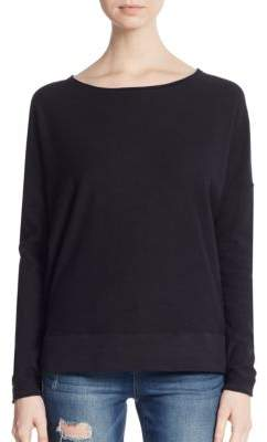 Slub Knit Dropped Shoulder Tee $135 thestylecure.com