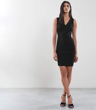 Reiss KIERA Knitted Bodycon Dress Black