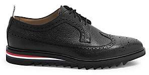 Thom Browne Men's Classic Longwing Leather Brogues
