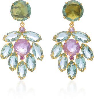 Bounkit Amethyst 14K Gold-Plated Brass Drop Earrings