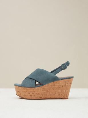 Diane von Furstenberg Juno Sport Suede Wedge Sandals