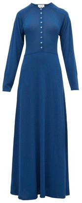 Lemaire Button Down Maxi Dress - Womens - Blue