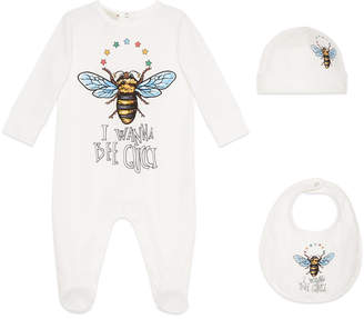 Gucci Baby cotton gift set with bee