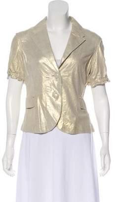 June Leather Notched Lapel Jacket