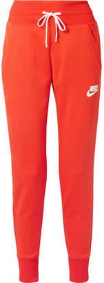 Nike Striped Stretch-jersey Track Pants