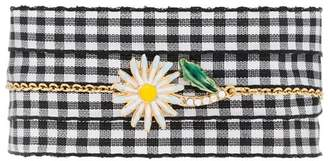 Miu Miu Daisy charm gingham bracelet