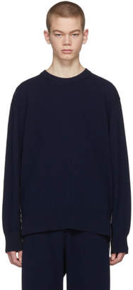 Stella McCartney Navy Cashmere Intoxication Side Band Sweater