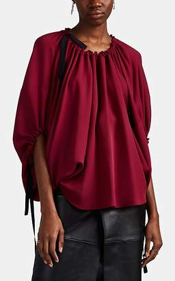 Derek Lam Women's Silk Crêpe De Chine Balloon-Sleeve Blouse - Plum
