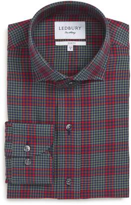 Ledbury Shulman Slim Fit Plaid Dress Shirt