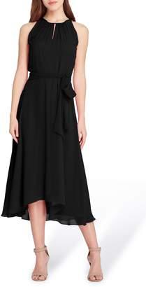 Tahari Sleeveless Chiffon Midi Dress