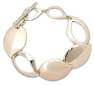 Kenneth Cole New York Textured Metals Gold Leaf Flex Link Bracelet