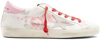 Golden Goose Super Star low-top floral-print leather trainers