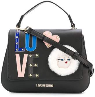 Love Moschino embellished logo tote