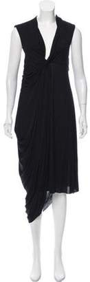 Givenchy Drape-Accented Maxi Dress Black Drape-Accented Maxi Dress