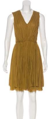 J. Mendel Raw-Trimmed Mini Dress Raw-Trimmed Mini Dress