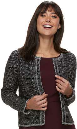 Elle Women's Tweed Open-Front Cardigan