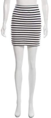Alexander Wang Striped Mini Skirt
