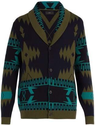 Icon Eyewear ALANUI geometric-intarsia cashmere cardigan