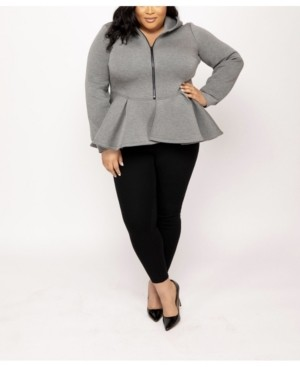 Eleven Paris 60 Eleven60 Peplum Hoodie by The Workshop at Macy's
