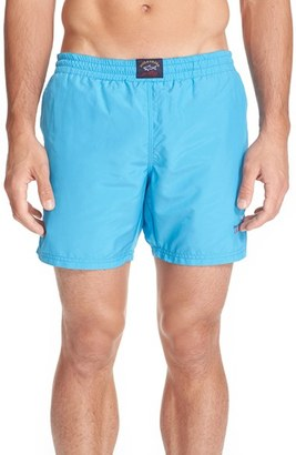 Men's Paul & Shark Small Logo Swim Trunks $170 thestylecure.com