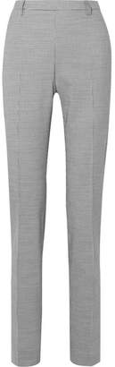 Tomas Maier Pepita Houndstooth Stretch Wool And Cotton-blend Slim-leg Pants - Gray