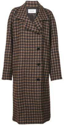 Lemaire plaid double-breasted coat