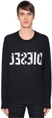Diesel Backwards Logo Wool Cashmere Sweater