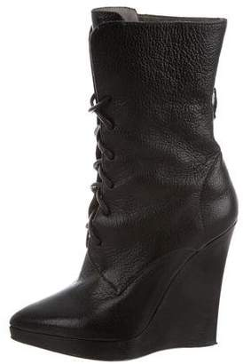 Reed Krakoff Leather Wedge Boots