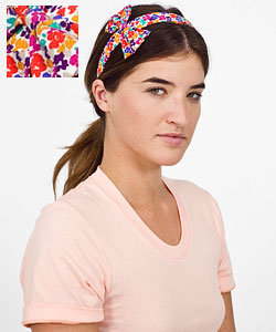 Vintage Print Fabric Bow Headband