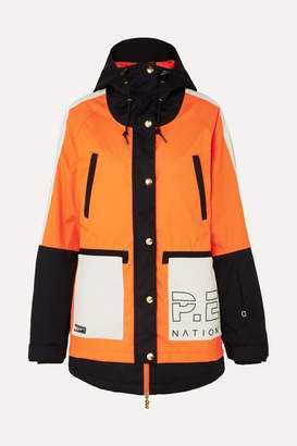 P.E Nation + Dc Riji Hooded Printed Ski Jacket - Orange