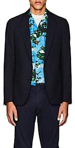 Lanvin Men's Checked Wool-Cotton Two-Button Sportcoat-Navy