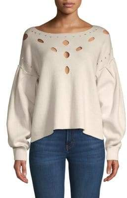Wildfox Couture Boatneck Cutout Sweater