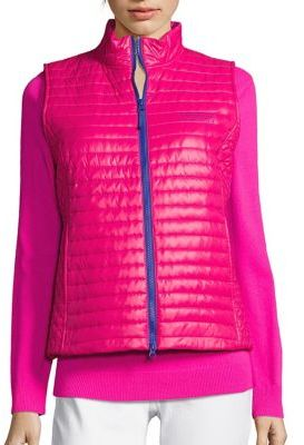 Vineyard Vines Shiny Solid Puffer Vest $158 thestylecure.com