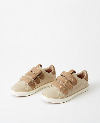 Hanna Kids Marcus Canvas Sneakers $49 thestylecure.com