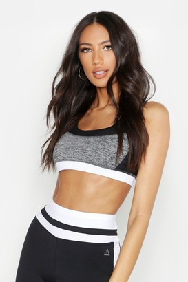 boohoo Fit Mesh Detail Sports Bra