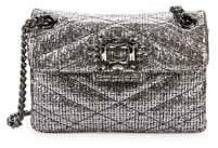 Kurt Geiger London Metallic Mayfair Quilted Chain Crossbody Bag