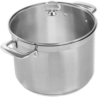 Chantal Induction 21 Steel 8-qt. Stockpot with Glass Lid